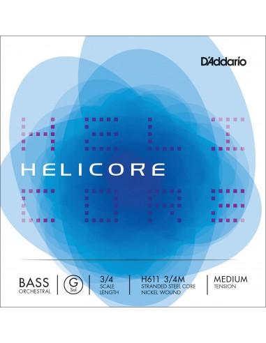 CUERDA CONTRABAJO 3/4 MED D´ADDARIO HELELICORE ORQUESTAL G H611 SOL