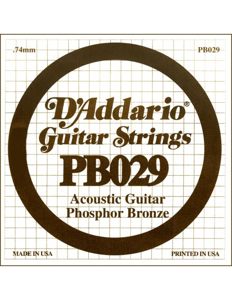"CUERDA GUITARRA ACUSTICA D´ADDARIO PB-029"""