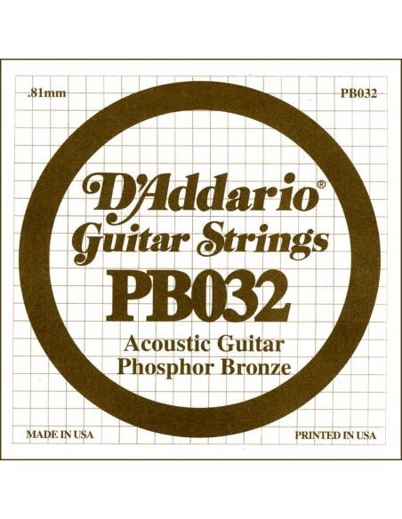 "CUERDA GUITARRA ACUSTICA D´ADDARIO PB-032"""