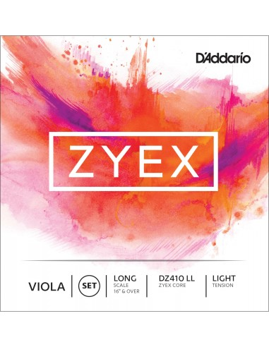 JUEGO CUERDAS D´ADDARIO VIOLA LIGHT LONG SCALE ZYEX DZ 410LL