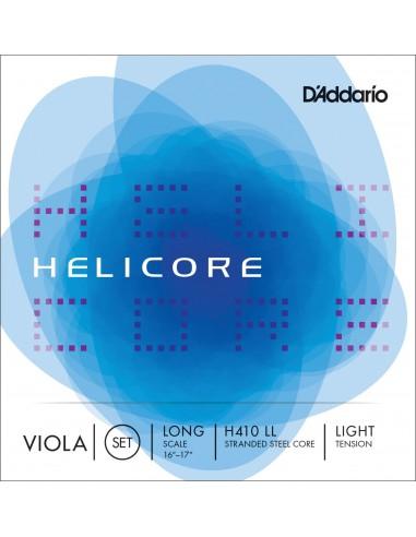 JUEGO CUERDAS VIOLA D´ADDARIO LIGHT LONG SCALE HELICORE H410LL