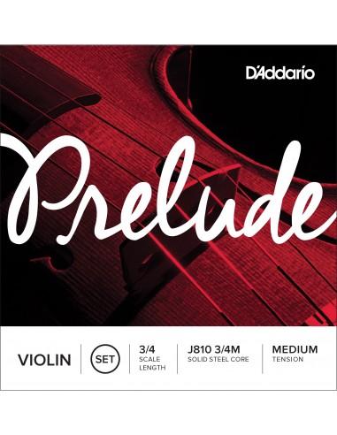 JUEGO CUERDAS VIOLIN 3/4 MED D´ADDARIO PRELUDEJ810