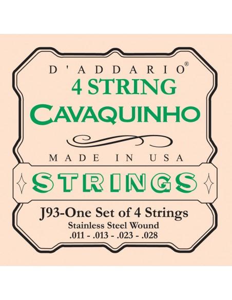 JUEGO CUERDAS CAVAQUINHO D´ADDARIO EJ-93