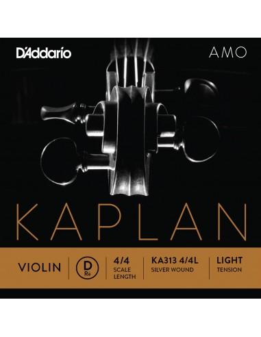 CUERDA VIOLIN 4/4 LIGHT D´ADDARIO KAPLANAMO D KA313 RE