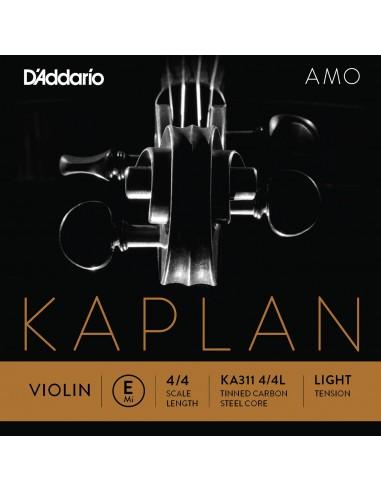 CUERDA VIOLIN 4/4 LIGHT D´ADDARIO KAPLANAMO E KA311 MI