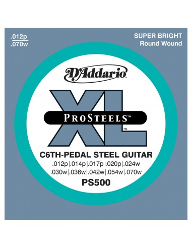 JUEGO CUERDAS PEDAL STEEL D´ADDARIO EPS-500(C-6TH)