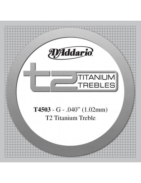 CUERDA GUITARRA ESPAÑOLA D´ADDARIO TITANIO T4503NORMAL