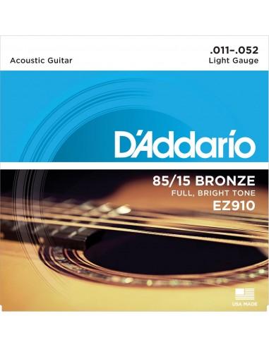 JUEGO CUERDAS GUITARRA ACUSTICA D´ADDARIO LIGHT EZ-9100(011-052)