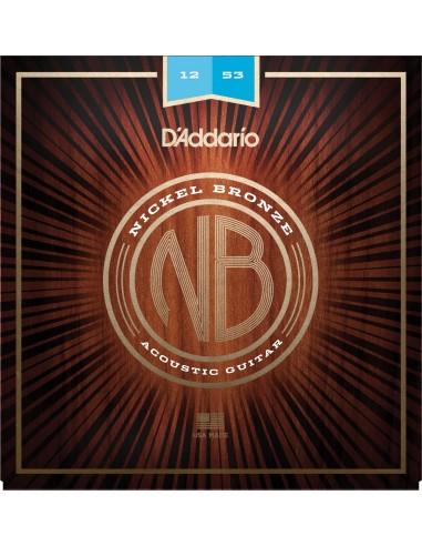 JUEGO CUERDAS GUITARRA ACUSTICA D´ADDARIO LIGHT NB1253 NICK/BRZ