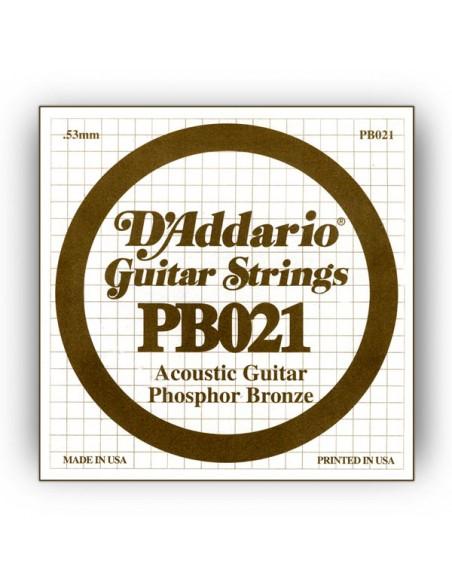 "CUERDA GUITARRA ACUSTICA D´ADDARIO PB-021"""