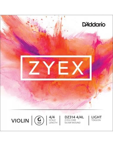 CUERDA VIOLIN 4/4 LIGHT D´ADDARIO ZYEX GDZ314 SOL