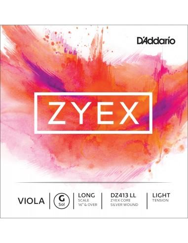 CUERDA VIOLA D´ADDARIO LONG LIGHT ZYEX DZ413 LL SOL