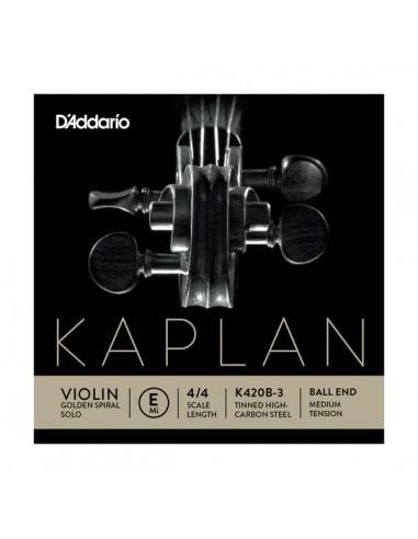 CUERDA VIOLIN D´ADDARIO MED KAPLANE K420B-3 BALL MI