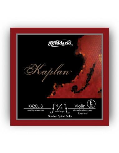 CUERDA VIOLIN D´ADDARIO MED KAPLANE K420L-3 LOOP MI