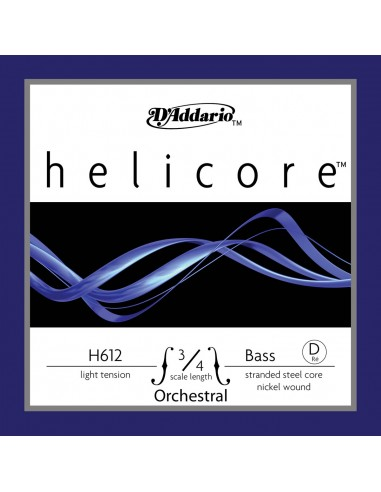 CUERDA CONTRABAJO 3/4 LIGHT D´ADDARIO HELICORE ORQUESTA D H612 RE