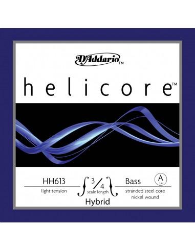 CUERDA CONTRABAJO 3/4 LIGHT D´ADDARIO HELICORE HYBRID A HH613 LA