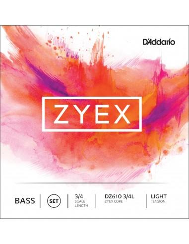 JUEGO CUERDAS CONTRABAJO 3/4 LIGHT D´ADDARIO ZYEX DZ610L
