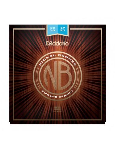 JUEGO 12 CUERDAS GUITARRA ACUSTICA D´ADDARIO NB1047-12 NICK/BRZ