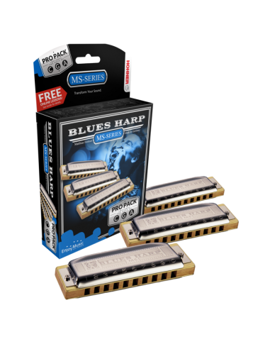 PROPACK ARMONICAS HOHNER BLUES HARP A/C/G
