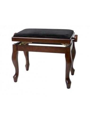 BANQUETA PIANO REGULABLE GEWA DELUXE CLASSIC NOGAL MATE