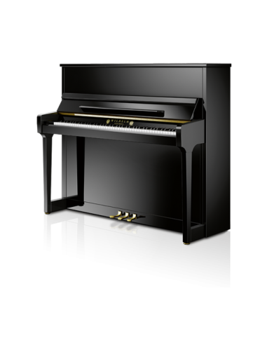 PIANO VERTICAL WILHELM SCHIMMEL TRADITION W123 Negro pulido