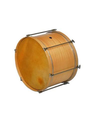 BOMBO Ø50 X 40 CM, NATURAL, PARCHE PIEL, 8 TENSORES SAMBA MUSICA